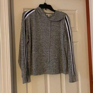 Grey Long sleeve with hoodie